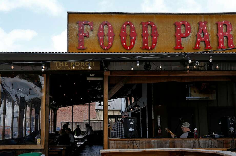 The Block, a food park, bar and sometimes live music spot in Petaluma. Photo: Preston Gannaway / Special To The Chronicle