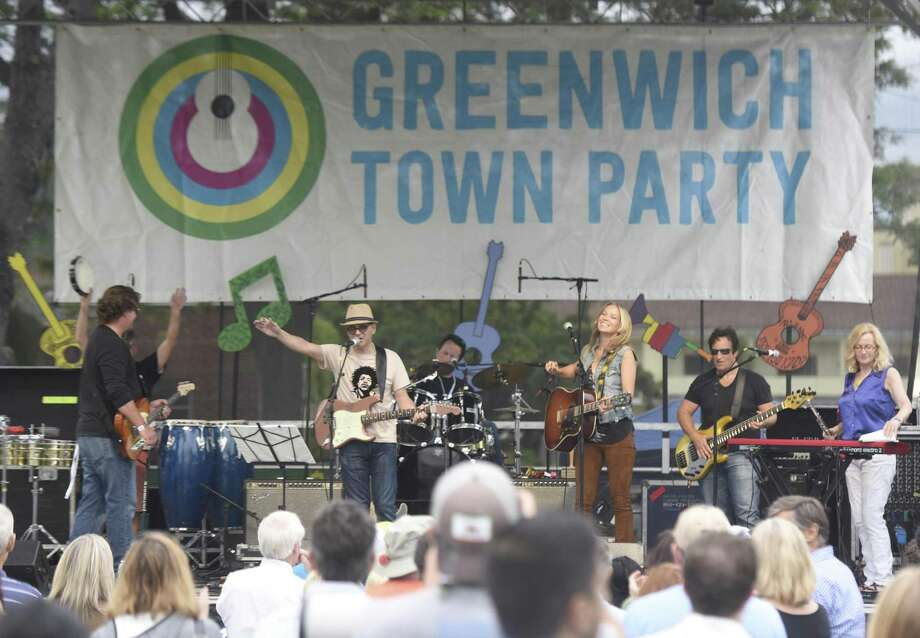 The Clams perform at the 2017 Greenwich Town Party at Roger Sherman Baldwin Park in Greenwich last May 27. Photo: Tyler Sizemore / Hearst Connecticut Media / Greenwich Time
