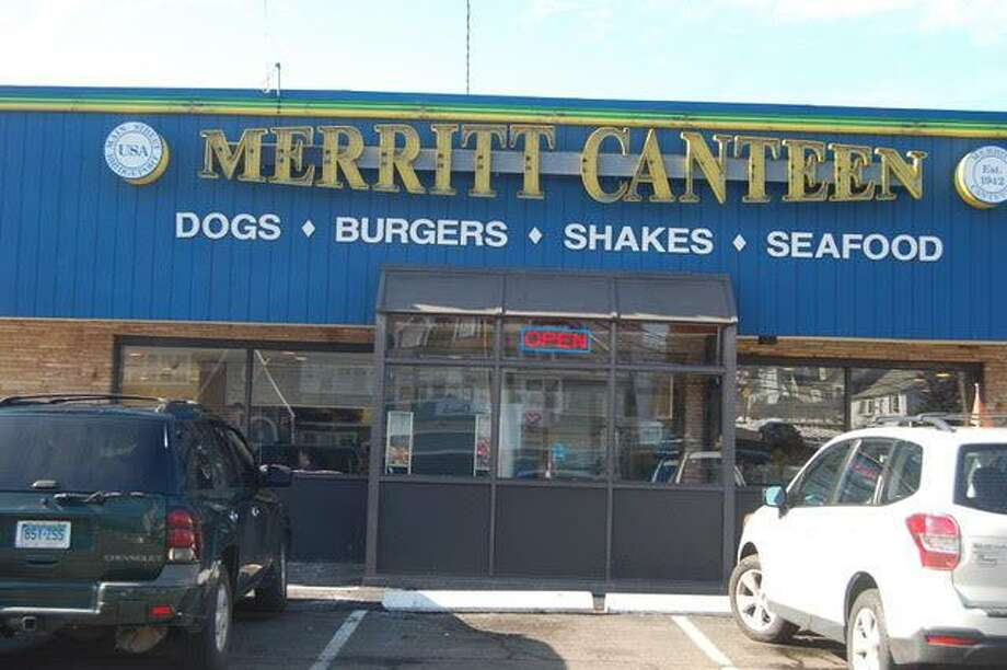 "Exterior of the Merritt Canteen in Bridgeport. The vintage eatery began as a roadside ""shack"" in 1942 near the Merritt Parkway, hence its name. Photo: Jane Stern / For Hearst Connecticut Media"