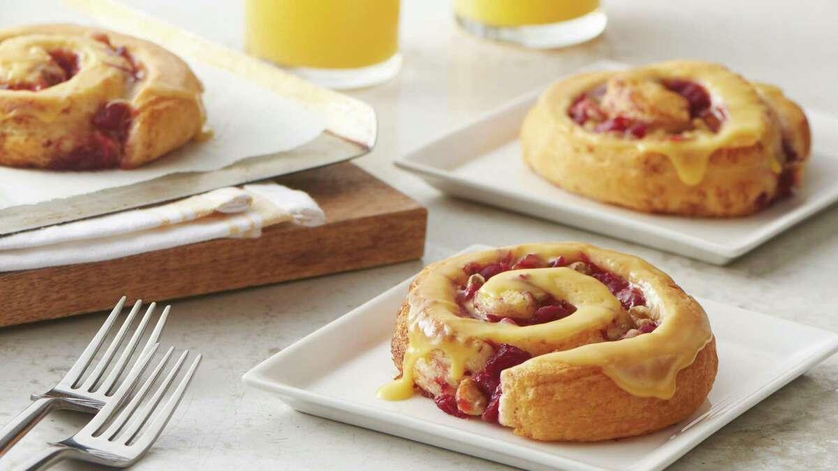 Bejeweled Cranberry-Orange Rolls, the winning recipe at the 2018 Pillsbury Bake-Off.