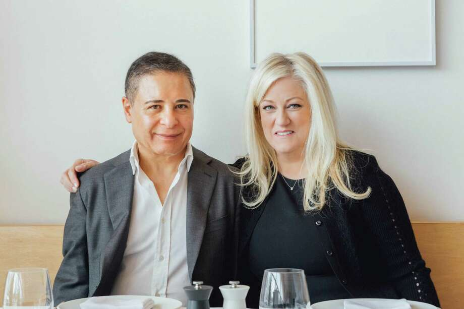 The owners of Rebeccas, Reza Khorshidi and his wife, Rebecca Khorshidi, March 28, 2018. Photo: Christopher Setter / For Hearst Connecticut Media / Christopher Setter  Connecticut Post Freelance