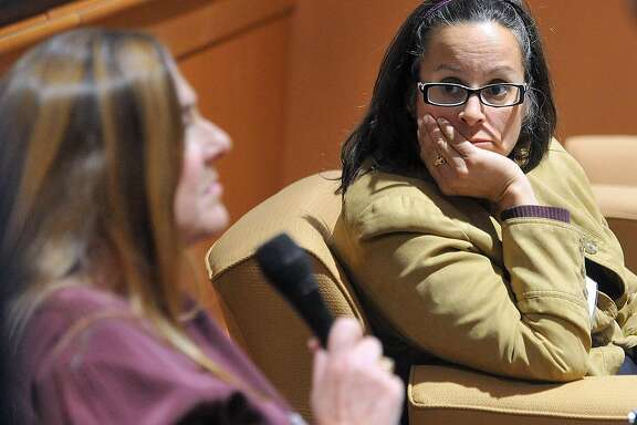 "(Peter Casolino-New Haven Register)    Panelists Dr. Dorothy Stubbe, left, and Kathy Flaherty field questions as mental health professionals and law experts participate in a symposium at Quinnipiac University to discuss gun violence. The morning panel was titled: ""An Act Concerning Gun Violence Prevention and Children's Safety. Stubbe is the Program Director of the Child and Adolescent Psychiatry at the Yale Child Study Center, and Flaherty is the Senior Staff Attorney at Statewide Legal Services of CT. The event was presented by the Quinnipiac University Law School's Health Journal.   pcasolino@NewHavenRegister"
