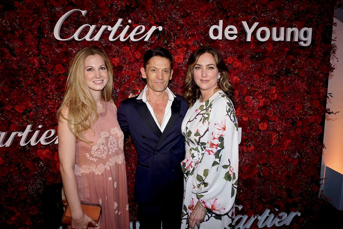 Molly de La Falaise (left) with her husband, chef Daniel de La Falaise and Alexis Traina at the Mid-Winter Gala. April 6, 2018.