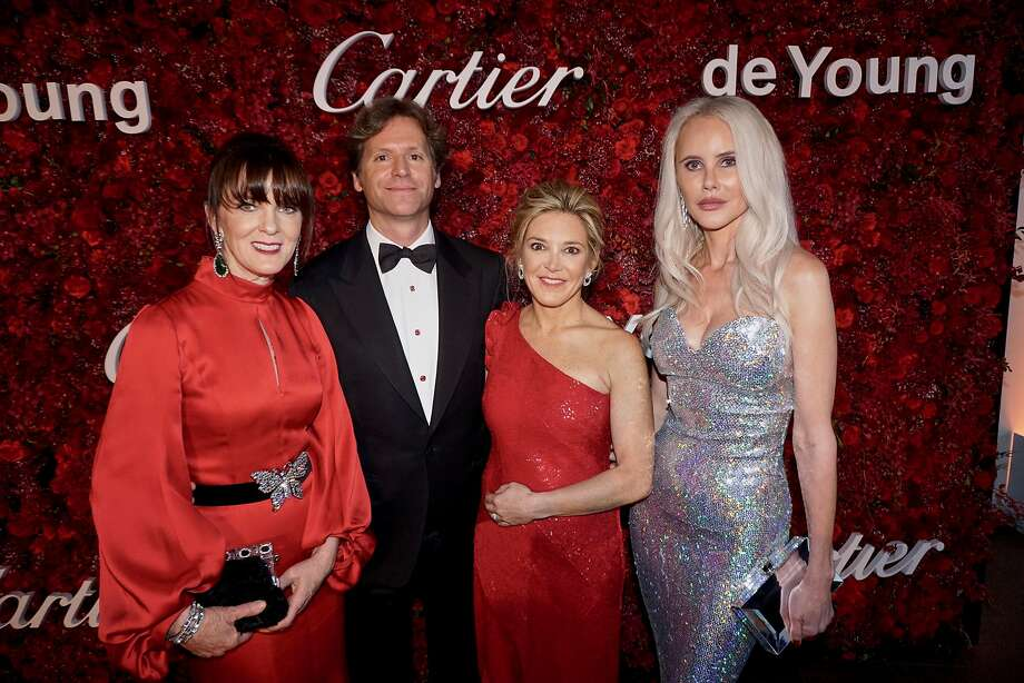 Mid-Winter gala founders (from left) Allison Speer, Ambassador Trevor Traina, Kathryn Lasater and Vanessa Getty at the de Young on April 6, 2018. Photo: Catherine Bigelow / Special To The Chronicle