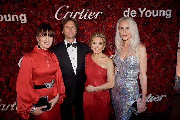 Mid-Winter gala founders (from left) Allison Speer, Ambassador Trevor Traina, Kathryn Lasater and Vanessa Getty at the de Young. April 6, 2018.