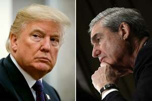 President Trump and special counsel Robert S. Mueller III. Impending reports by Mueller on his investigation of Trump on possible collusion and obstruction of justice might get blocked from public release in a GOP Congress.