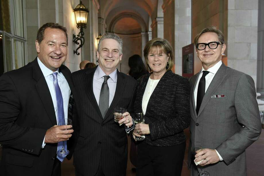 Steve Bentz (far left) joined the Express-News on Tuesday as its chief operating officer. Photo: Michael Short /Special To The Chronicle / Michael Short 2017