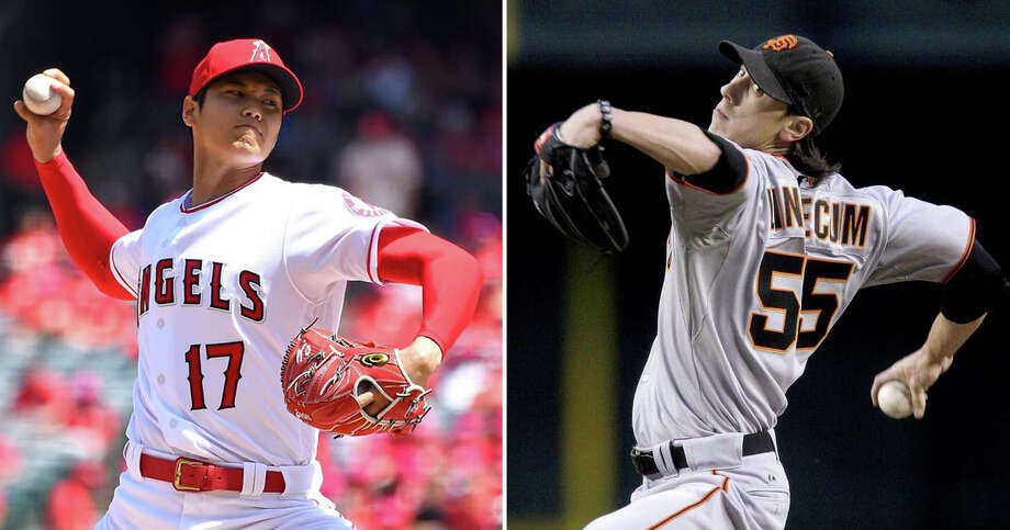 Is Shohei Ohtani the new Tim Lincecum? When Lincecum walked off the mound at his peak, he left batters and fans thinking they've never seen anyone quite like this. Just like Ohtani, a decade later. Photo: Jayne Kamin-Oncea/Getty Images, Ross D. Franklin / AP