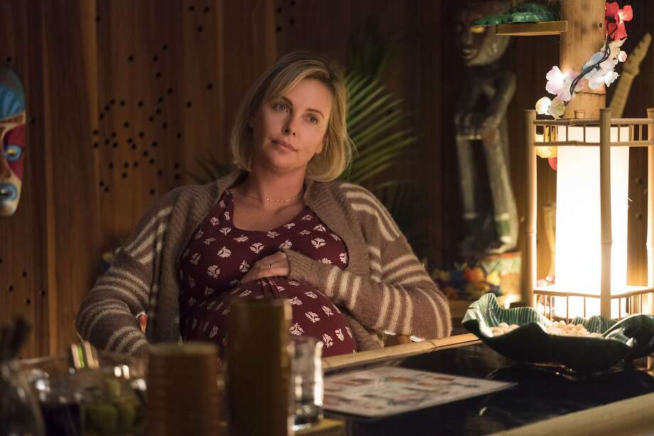 """Margo (Charlize Theron) is a mother of two who is expecting a newborn in """"Tully."""" Photo: Focus Features"""