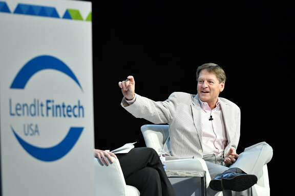 Michael Lewis spoke at the LendIt conference in San Francisco on April 10.
