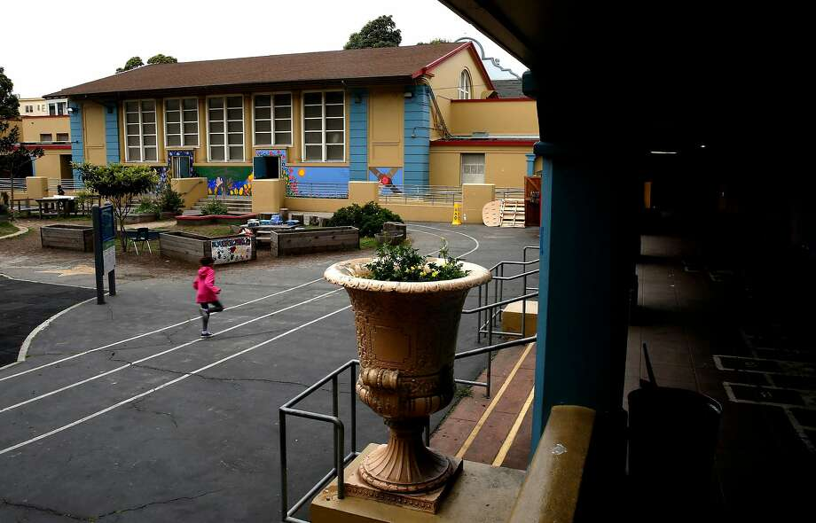 Buena Vista Horace Mann, a K-8 public school in San Francisco's Mission District, has more than 60 families with unstable housing or no housing, officials say. Students and families in need have asked if they can sleep at the school. Photo: Michael Macor / The Chronicle