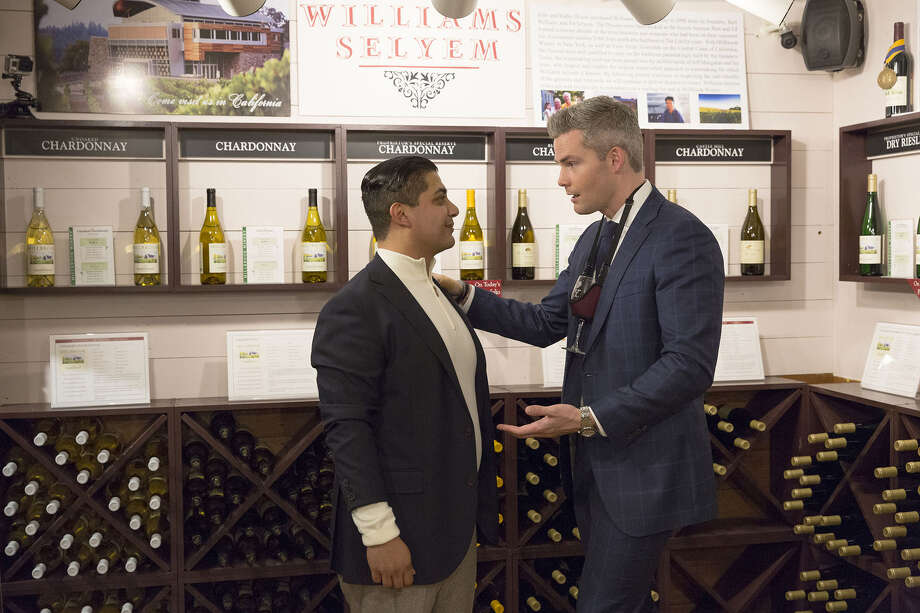 SELL IT LIKE SERHANT -- Pictured: (l-r) Tim Gonzales, Ryan Serhant -- (Photo by: Greg Endries/Bravo) Photo: Credit: Greg Endries/Bravo / 2017 Bravo Media, LLC. Credit: Greg Endries/Bravo