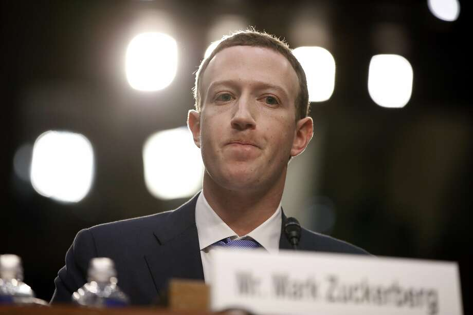 Facebook CEO Mark Zuckerberg testifies before a joint hearing of the Commerce and Judiciary Committees on Capitol Hill in Washington, Tuesday, April 10, 2018, about the use of Facebook data to target American voters in the 2016 election. (AP Photo/Alex Brandon) Photo: Alex Brandon, Associated Press