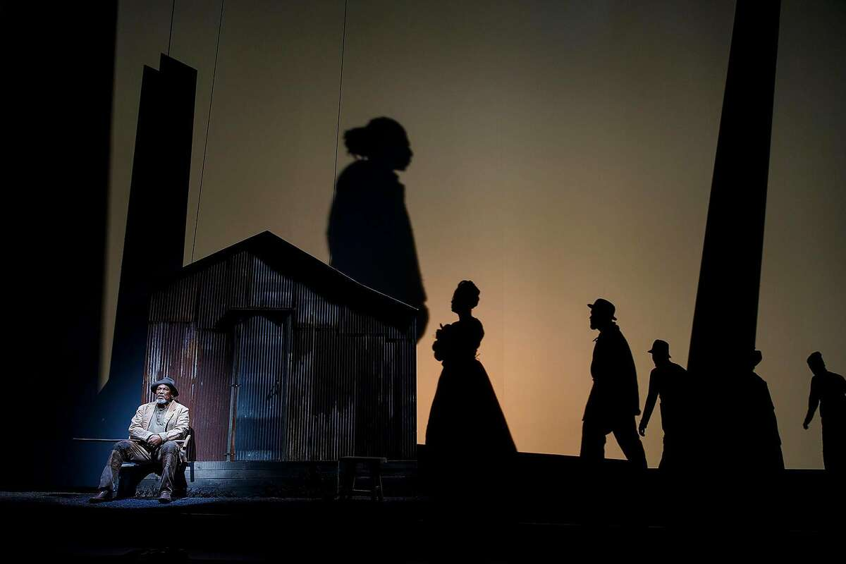 """Steven Anthony Jones�in """"Father Comes Home from the Wars (Parts 1, 2 & 3),"""" a coproduction between ACT and Yale Repertory Theatre."""