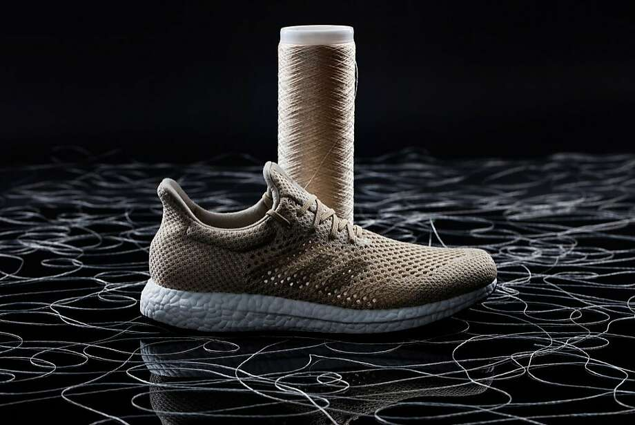 Adidas is developing a Biosteel running shoe whose upper is woven out of AMSilk's cultured spider silk. Photo: Adidas