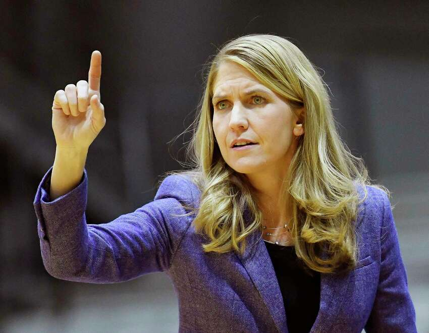 FILE - Former UAlbany women's basketball coach Joanna Bernabei-McName left the Danes to take the head coaching position at Boston College in April 2018.