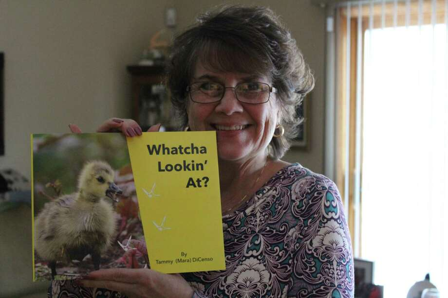 Tammy DiCenso of Derby with a copy of her new book. Photo: Contributed Photo