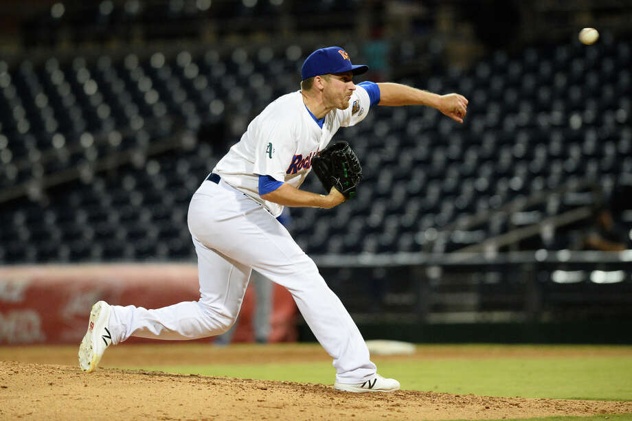 RockHounds' Jarret Martin pitches against Tulsa April 10, 2018, at Security Bank Ballpark. James Durbin/Reporter-Telegram Photo: James Durbin