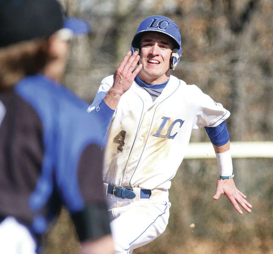LCCC's Chance Foss had a hit and scored a pair of runs in a 6-4 loss to Heartland Community College in the first game of a JUCO doubleheader Tuesday in Godfrey. The Trailblazers dropped the second game 3-1. Photo:       Telegraph File Photo