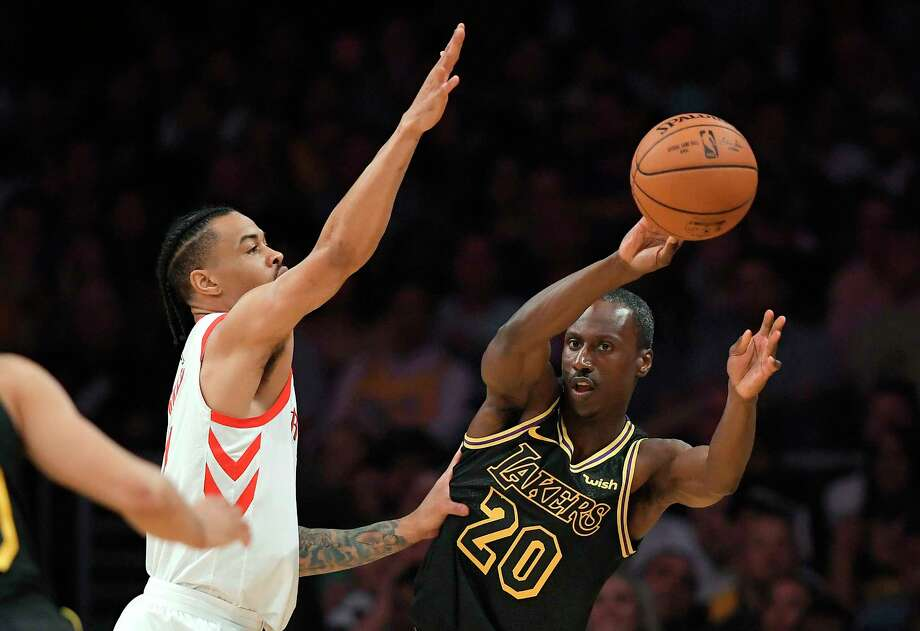 Gerald Green, left, provides a valuable insurance policy for the Rockets after the injury to Luc Mbah a Moute. Photo: Mark J. Terrill, Associated Press / Copyright 2018 The Associated Press. All rights reserved.