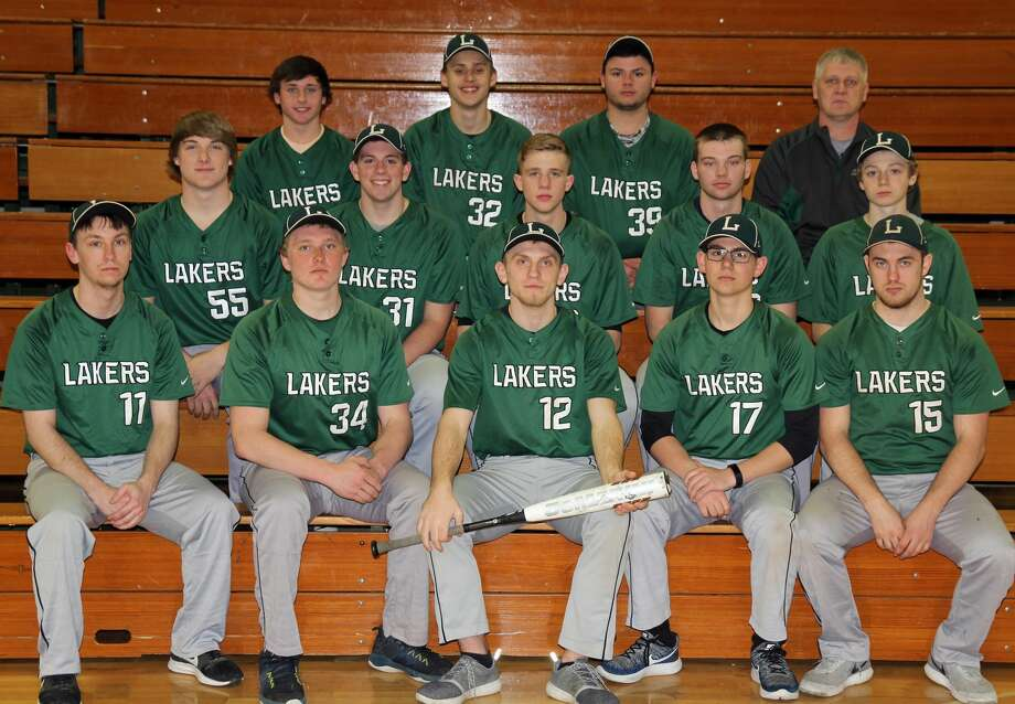 Members of the EPBP varsity baseball team are (front row from left) Michael Muether, Brady Smith, Brennan Wissner, Nick Siegfried and Taylor Kady (middle row) Preston Warren, Mitchell Richmond, Andrew Siegfried, Karson Binder and Bryce Sears (back row) Noah Henderson, Tyler Bishop, Ryan Castro and coach Ron Dubs. Missing is Adam Legault. Photo: Mike Gallagher/Huron Daily Tribune