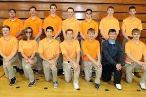 p.p1 {margin: 0.0px 0.0px 0.0px 0.0px; font: 18.0px Helvetica}   Members of the Ubly golf team are (front row from left) Austin Cregeur, Danielle Briolat, Justin Briolat, Jake Uhl, Nick Wright, Joseph Sieradzki and Levi Block (back row) coach David Hanson, Ethan Peruski, Isaac Warczinsky, Eli Emming, David Sorenson, Blake Badger and Zachary Ziehm.