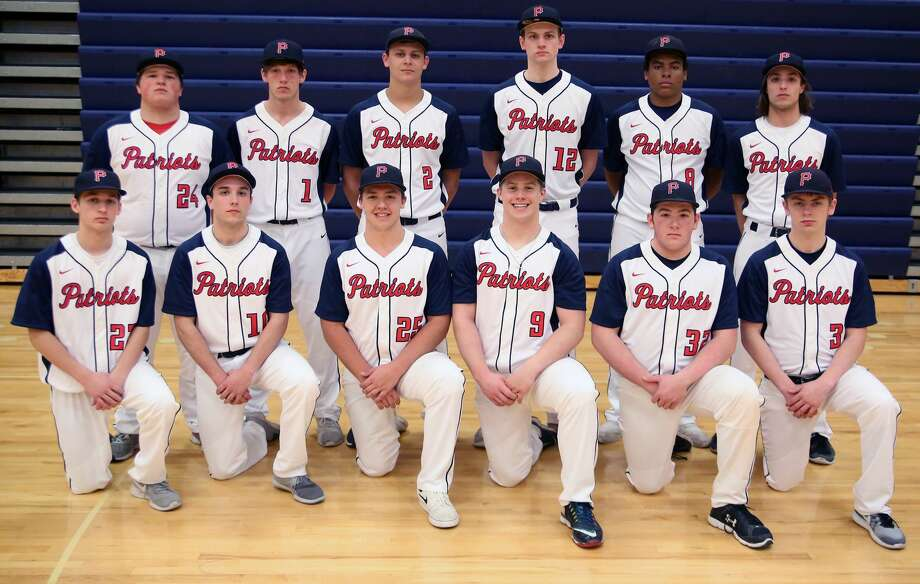 Members of the USA varsity baseball team are (front row from left) Vicente Brabo, Jared Lang, Braden Carter, Cooper Kauffold, Nic Lutz and Devin Riskey (back row) Myles Geiger, Tyler Heckroth, Brendan Prime, Isaiah Williamson, Jalen Gangler and Joshua Lang. Missing is Hunter Bohn. Photo: Paul P. Adams/Huron Daily Tribune