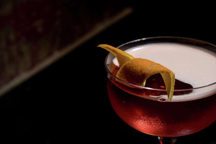 A Coffee Negroni is seen at The Cottonmouth Club, Tuesday, April 10, 2018, in Houston.