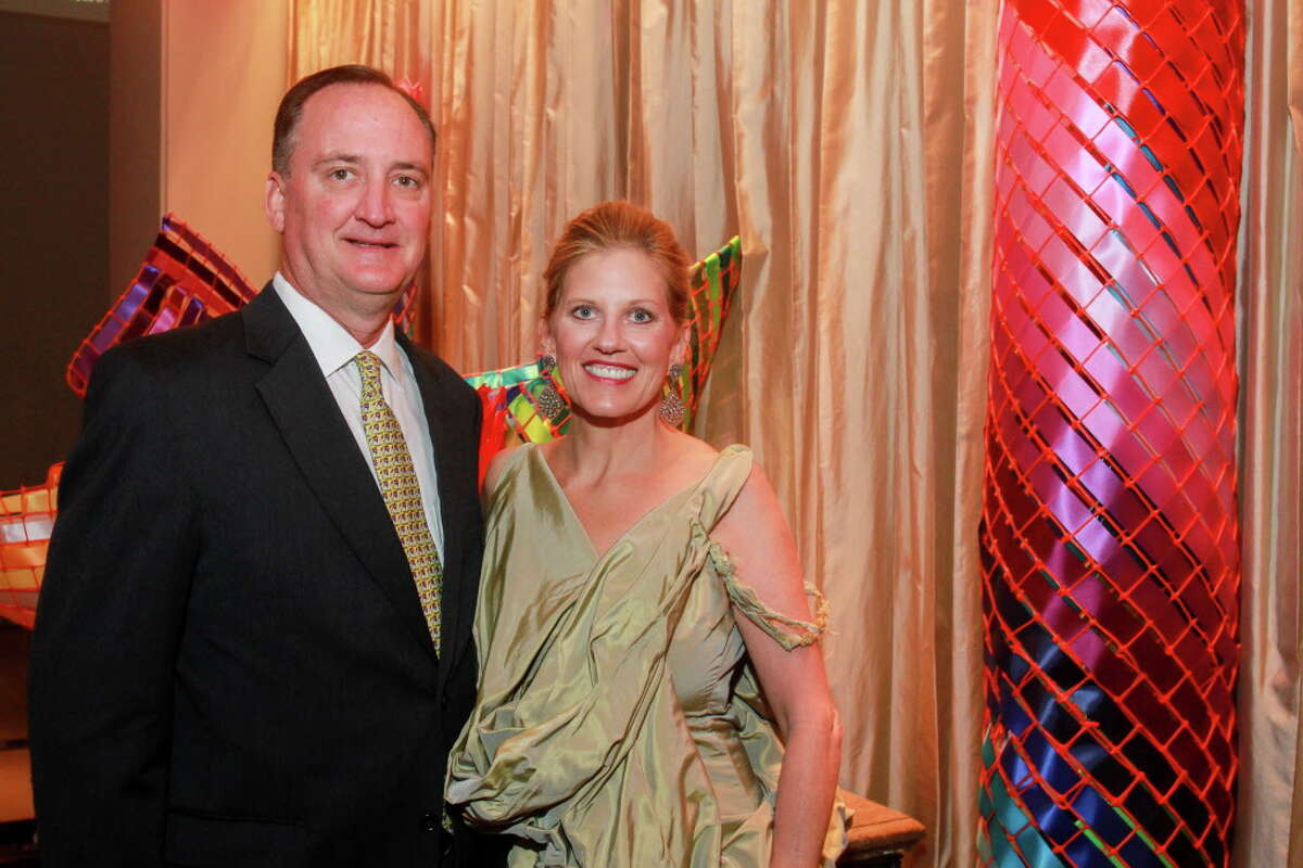 Curt Langley and Ashley Smither Langley at the Houston Arts Alliance dinner. Ashley is the event chair.
