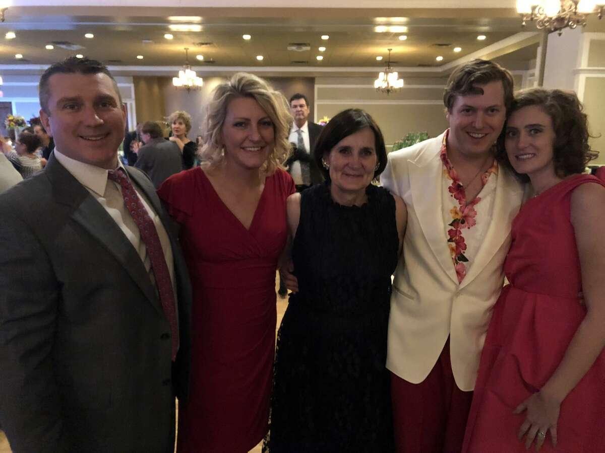 O'Neill wedding: J.R. Christy, from left, Katy Christy, Carole Wayland, Flynn O'Neill and Meagan O'Neill