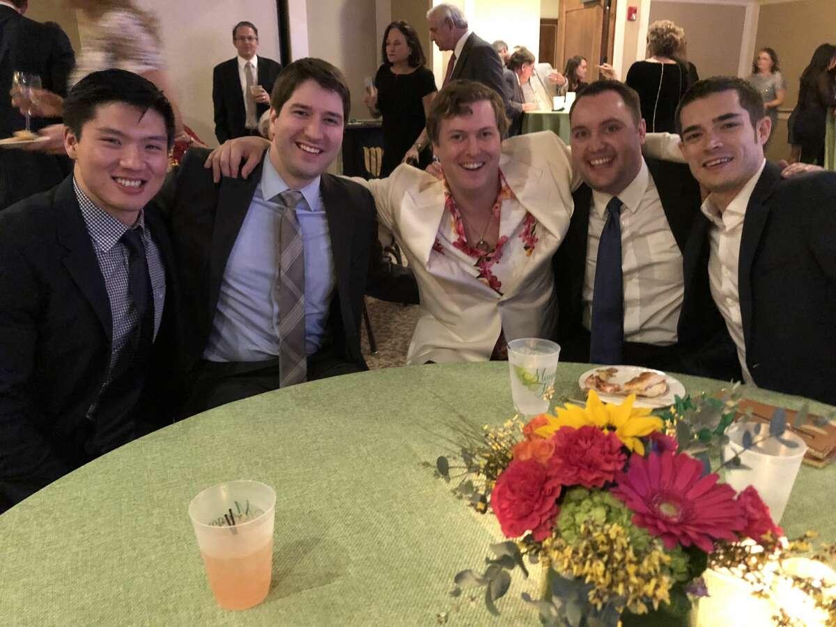 O'Neill wedding: Neill Li, from left, Josh Morris, Flynn O'Neill, Phillip Downing and Blake Morgan