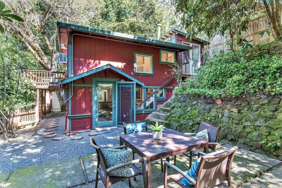 Sweet vacation home tucked away among trees of Forestville, Calif., at 9481 Westside Rd. listed for $499,000. Photo: Home Smart