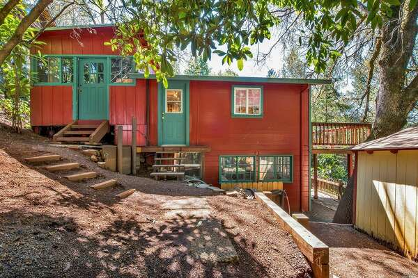 Sweet vacation home tucked away among trees of Forestville, Calif., at 9481 Westside Rd. listed for $499,000.