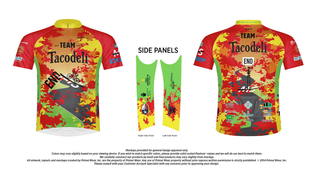 This is theBP MS-150 team jersey for Tacodeli.