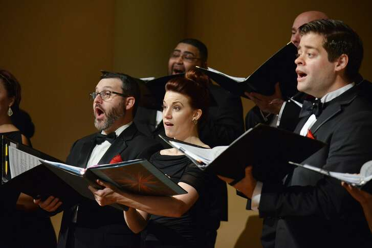 The Houston Chamber Choir, in performance.