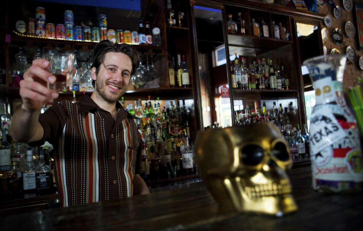 Bartender Hunter Klaus poses for a portrait at the bar at Little Dipper on Friday, March 30, 2018, in Houston.
