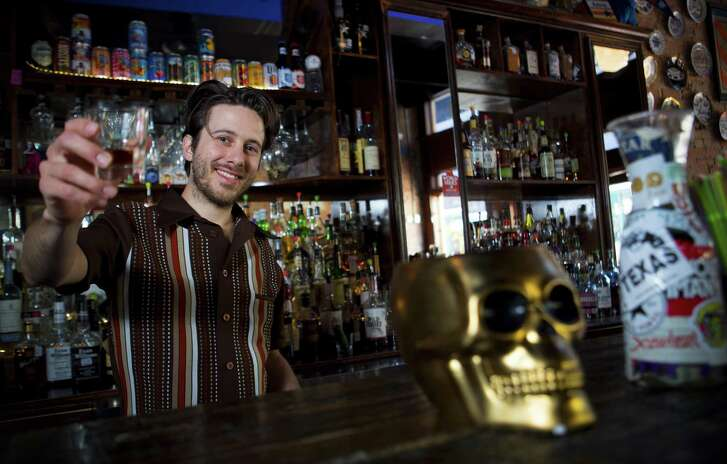 Bartender Hunter Klaus poses for a portrait at the bar at Little Dipper on Friday, March 30, 2018, in Houston. ( Brett Coomer / Houston Chronicle )