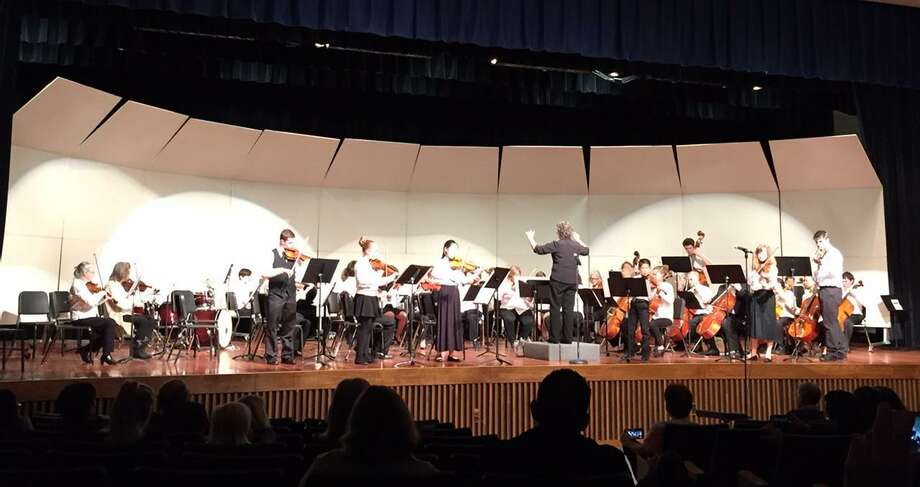 Nearly 50 string musicians will take the stage at John Winthrop Middle School in Deep River for the Community Music School's String Ensemble Concert on May 1. Photo: Contributed Photo/CMS