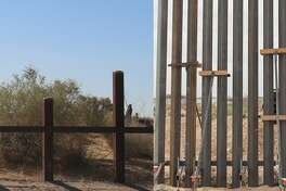 "Border Patrol agents held a groundbreaking event on April 9, 2018, for a new ""bollard wall"" intended to replace roughly 20 miles of vehicle barriers along New Mexico's southern border."