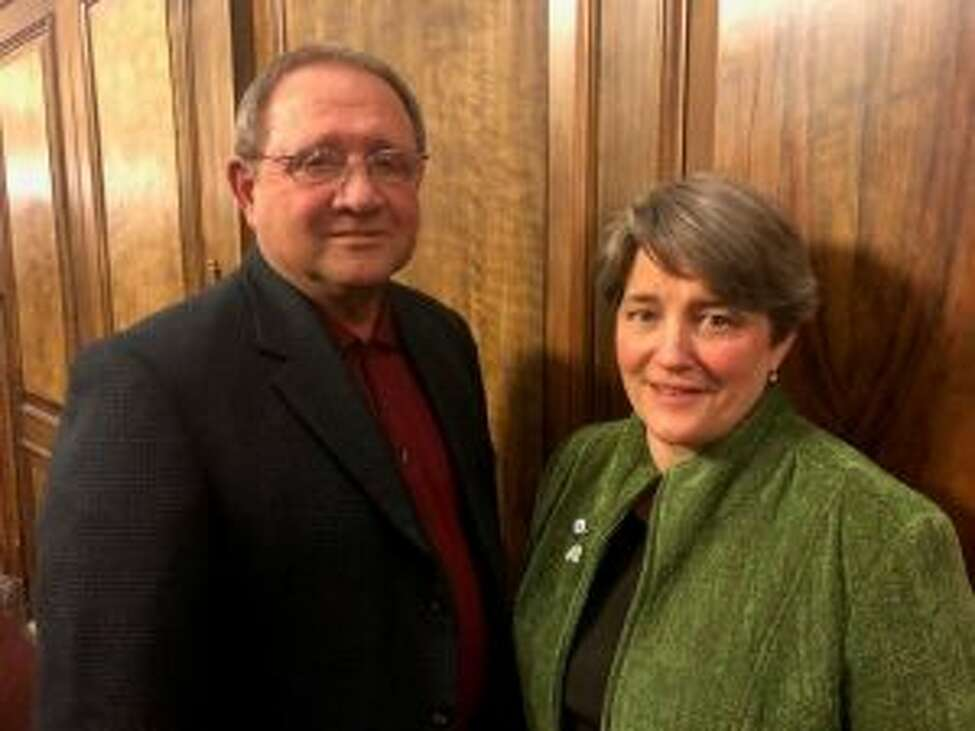 Cohoes Democrat Gil Ethier and Albany Democrat Lynne Lekakis were appointed as deputy majority leaders recently by Albany County Legislature Majority Leader Dennis Feeney. (Photo courtesy of the Albany County Legislature)