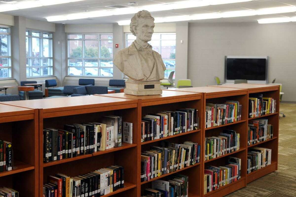 The new library at Central High School, in Bridgeport, Conn. April 4, 2016.