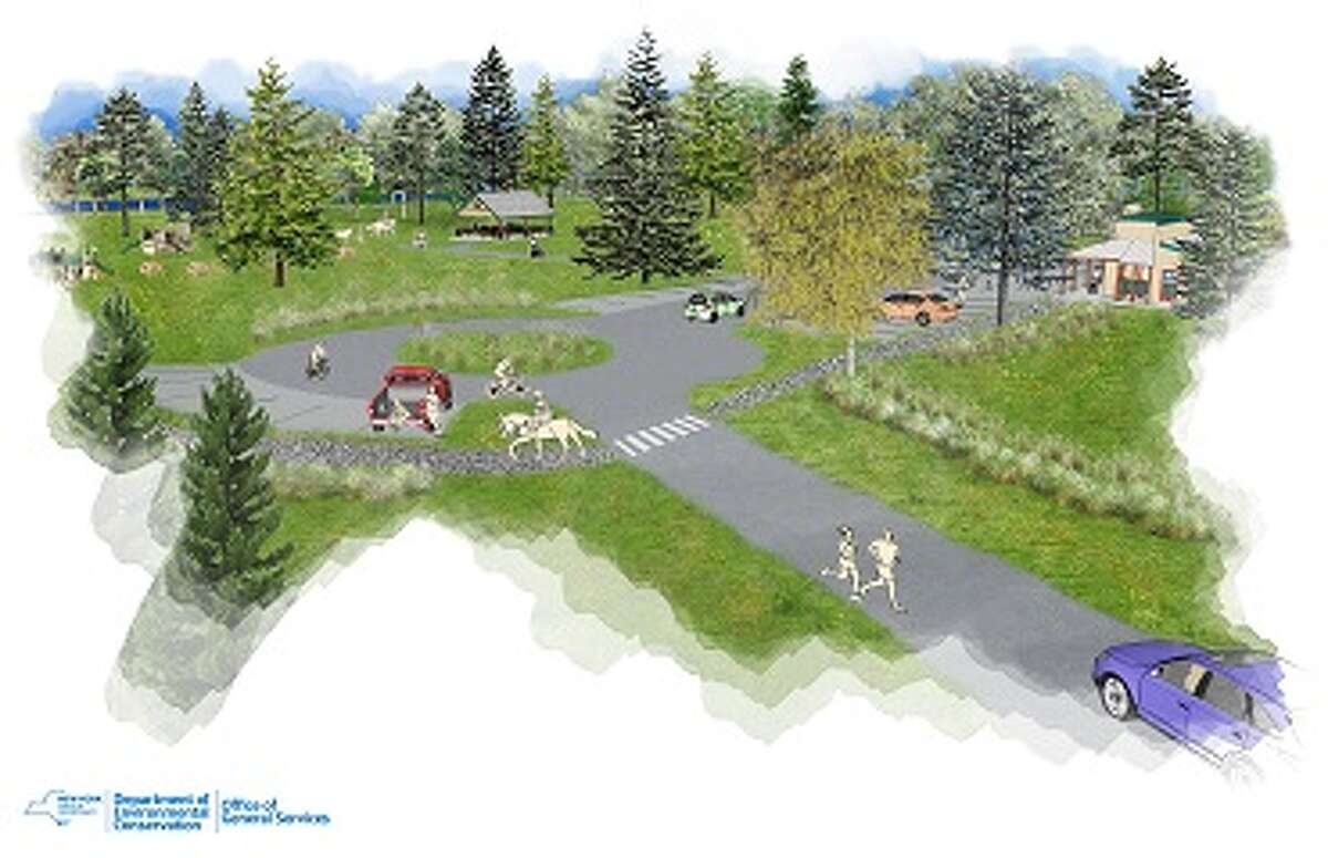 Renderings show the campground planned for the former Frontier Town site.
