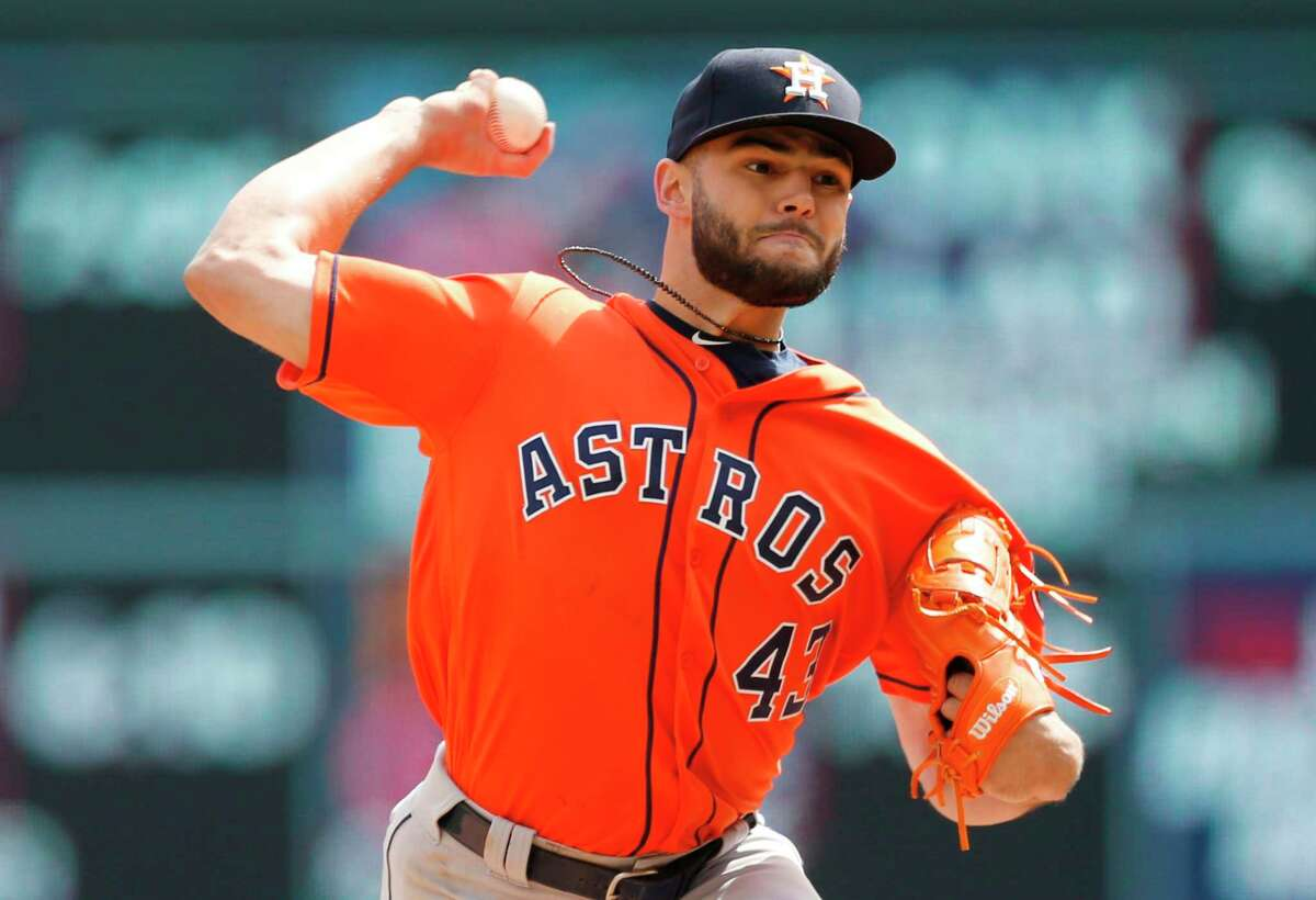Houston Astros pitcher Lance McCullers Jr. throws against the Minnesota Twins in the first inning of a baseball game Wednesday, April 11, 2018, in Minneapolis. (AP Photo/Jim Mone)