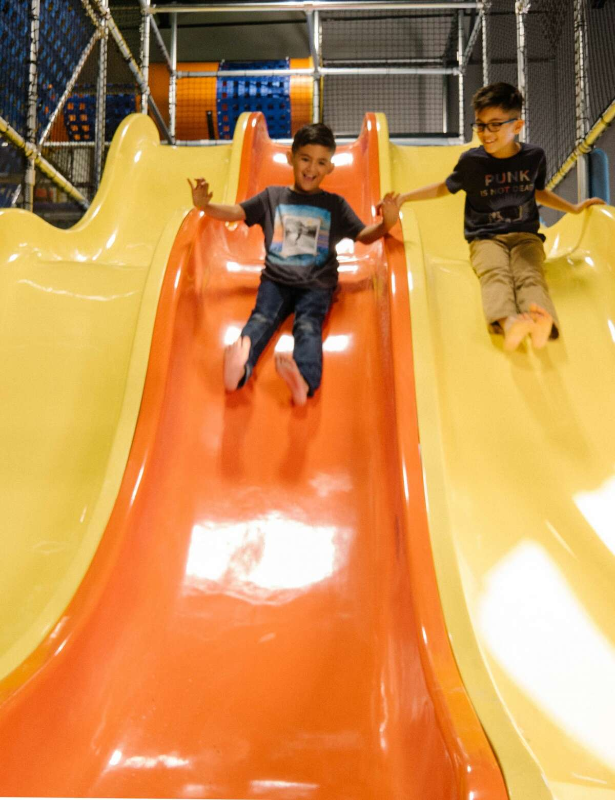 Photos show a sneak peek of Hang Indoor Playground.