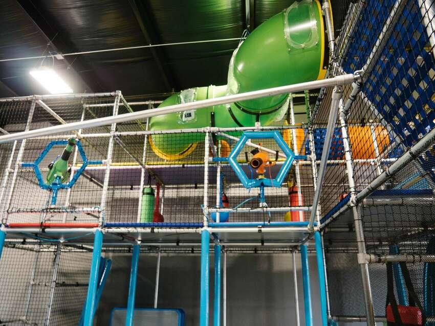 Photos show a sneak peek of Hang Indoor Playground.