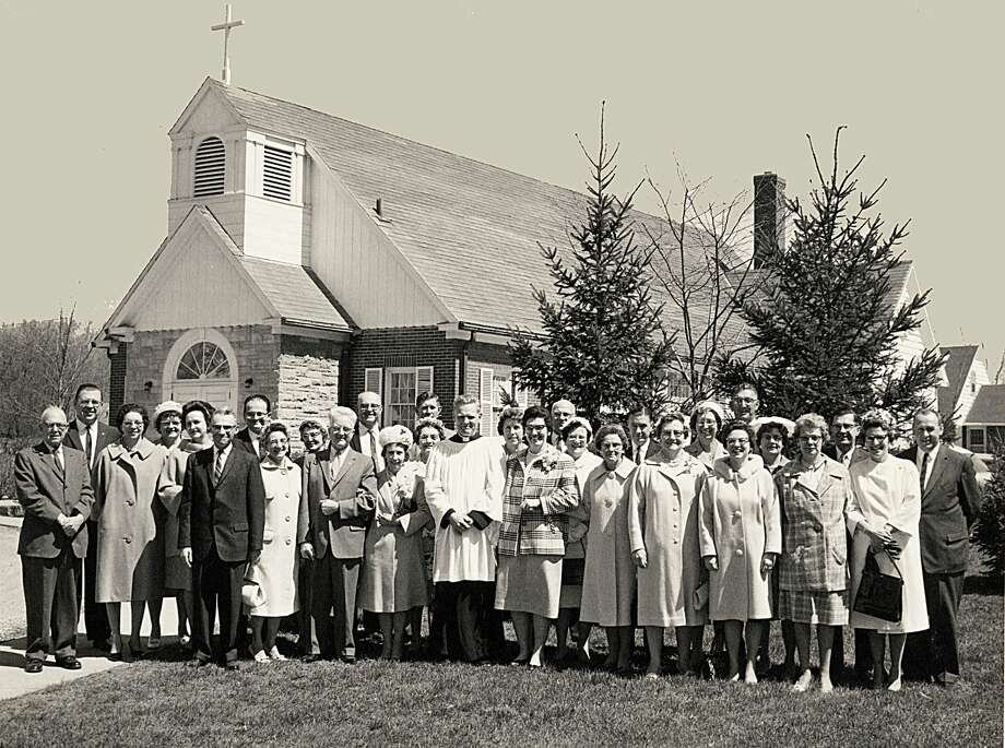 A photo of the congregation taken on the church's 25th anniversary. (Photo provided/Trinity Lutheran Church) Photo: (Photo Provided/Trinity Lutheran Church)
