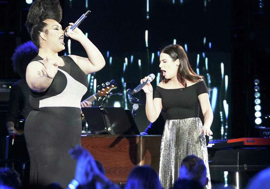 "San Antonio's Ada Vox and ""Glee"" star Lea Michele team up for a duet on ABC's ""American Idol"" Monday night. The judges' reaction will determine if Vox makes it into Top 14. Photo: Eric McCandless /ABC / © 2018 American Broadcasting Companies, Inc. All rights reserved."