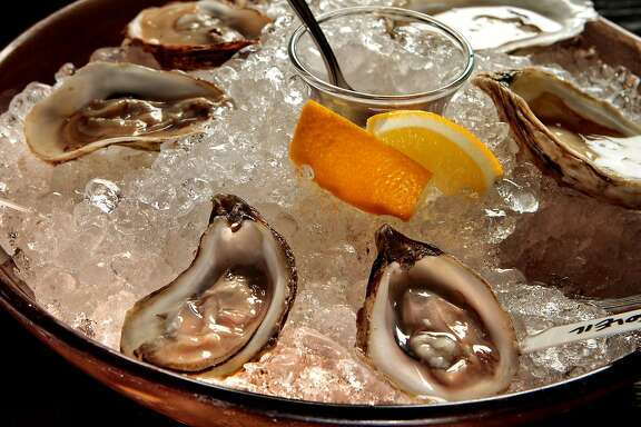 A selection of Oysters at Hog Rocks restaurant in San Francisco, Calif.,  is seen on Sunday, January 12,  2011.