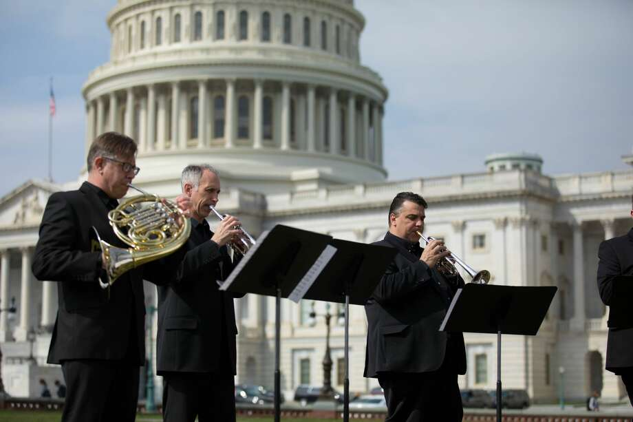 At the invitation of Sen. Charles Schumer, a brass quintet of Albany Symphony musicians performed at 10:30 a.m. Wednesday, April 11, 2018, on Capitol Hill in Washington, D.C. Photo: Office Of Sen. Charles Schumer