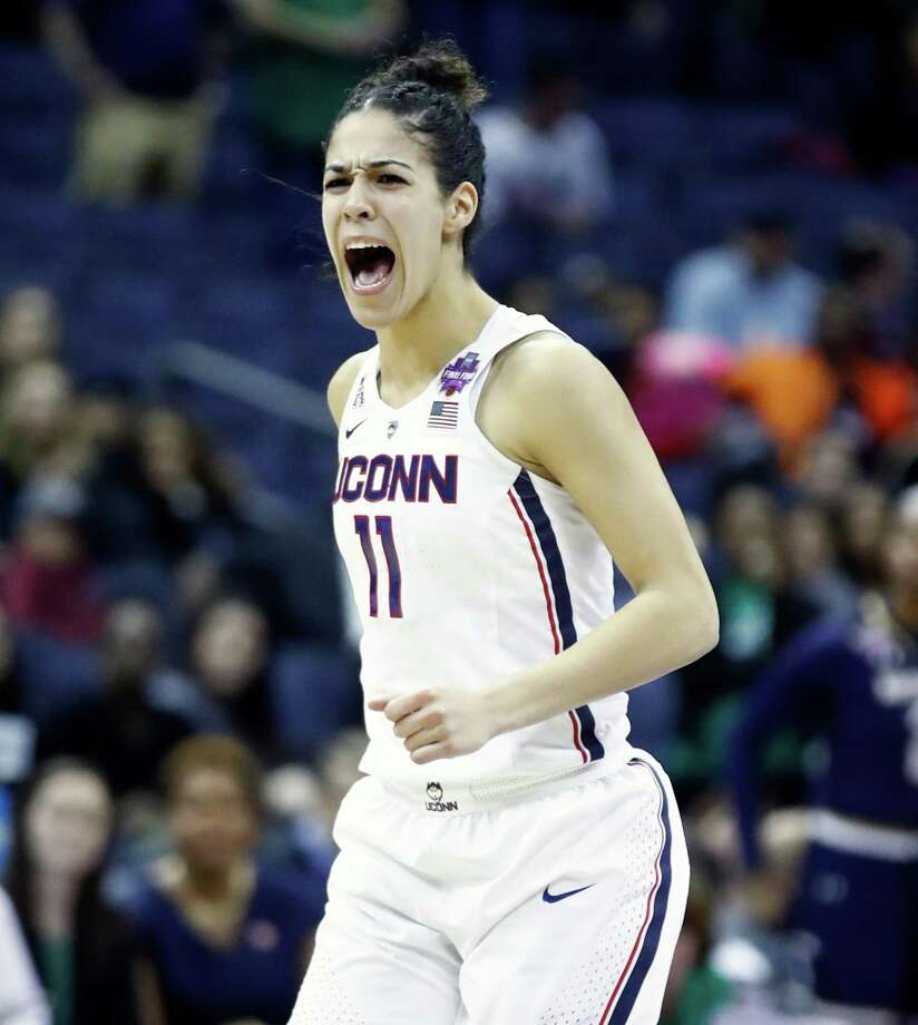 COLUMBUS, OH - MARCH 30:  Kia Nurse #11 of the Connecticut Huskies celebrates after hiting the game tieing basket late in the second half to force overtime against the Notre Dame Fighting Irish in the semifinals of the 2018 NCAA Women's Final Four at Nationwide Arena on March 30, 2018 in Columbus, Ohio. The Notre Dame Fighting Irish defeated the Connecticut Huskies 91-89.  (Photo by Andy Lyons/Getty Images) Photo: Andy Lyons / Getty Images / 2018 Getty Images